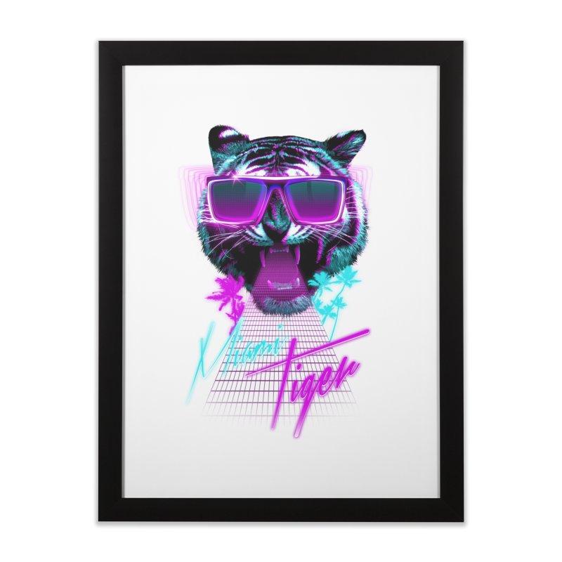 Miami tiger Home Framed Fine Art Print by Astronaut's Artist Shop