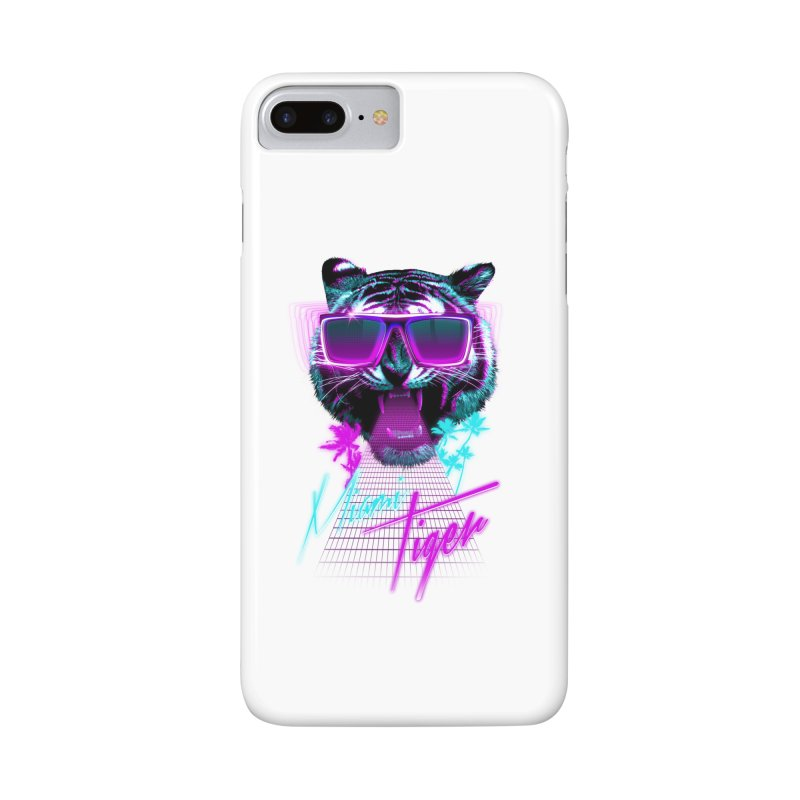 Miami tiger Accessories Phone Case by Astronaut's Artist Shop