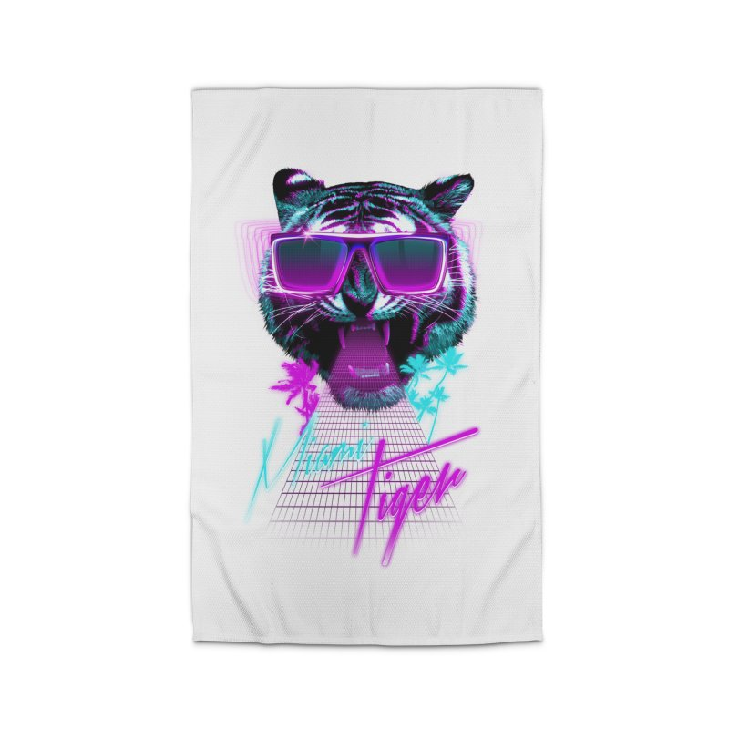 Miami tiger Home Rug by Astronaut's Artist Shop