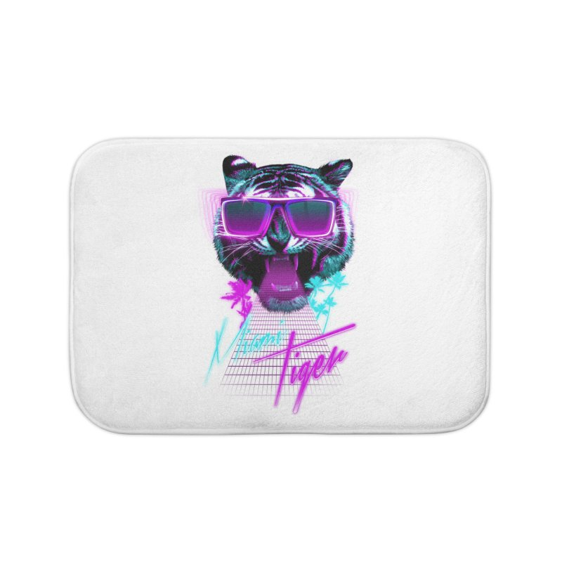 Miami tiger Home Bath Mat by Astronaut's Artist Shop