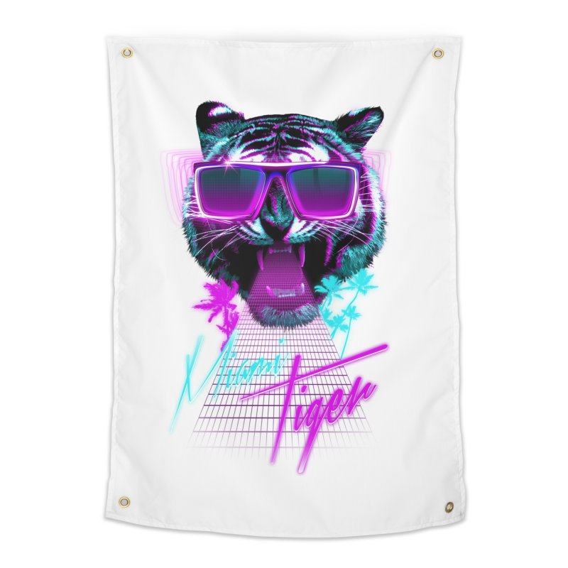 Miami tiger Home Tapestry by Astronaut's Artist Shop