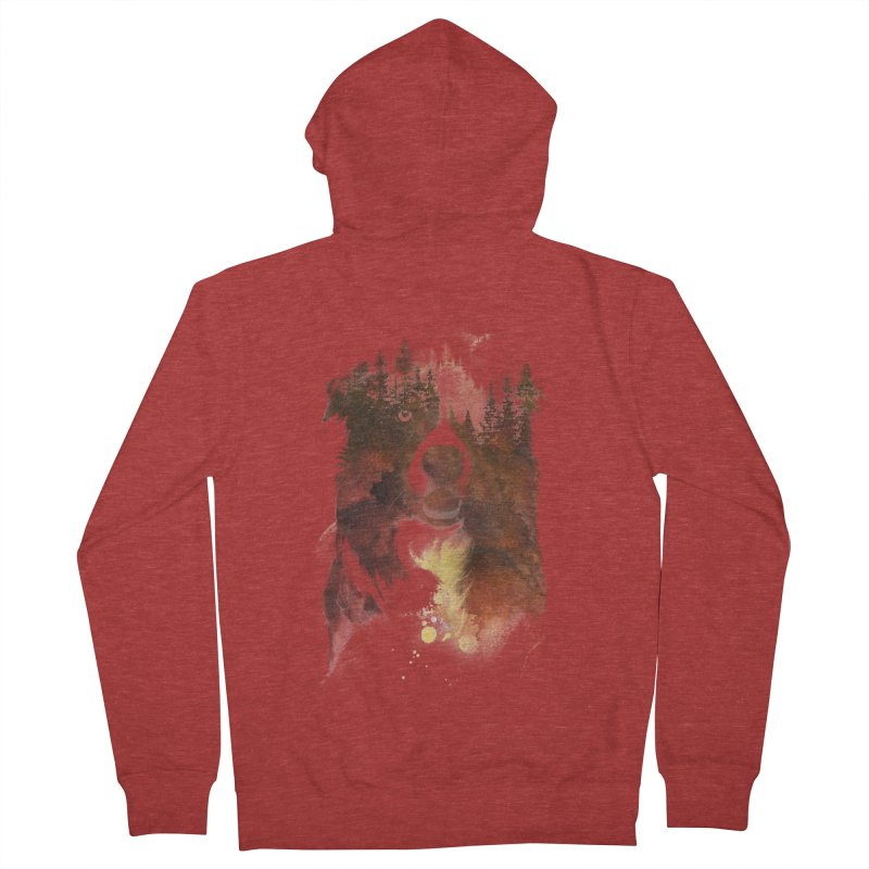 One night in the forest Men's Zip-Up Hoody by Astronaut's Artist Shop