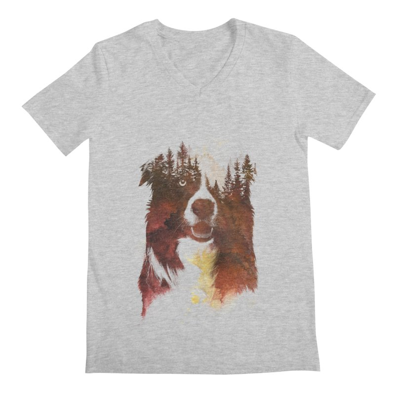 One night in the forest Men's V-Neck by Astronaut's Artist Shop