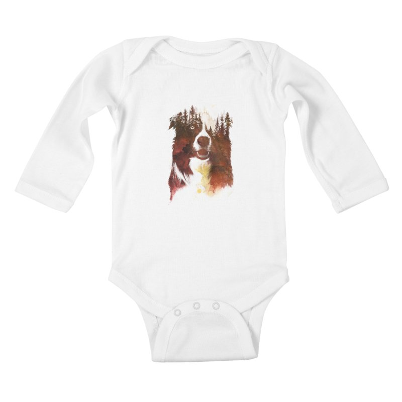 One night in the forest Kids Baby Longsleeve Bodysuit by Astronaut's Artist Shop