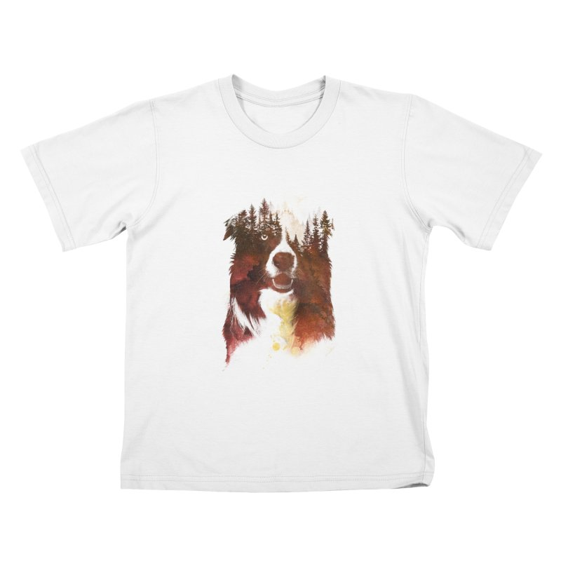 One night in the forest Kids T-Shirt by Astronaut's Artist Shop