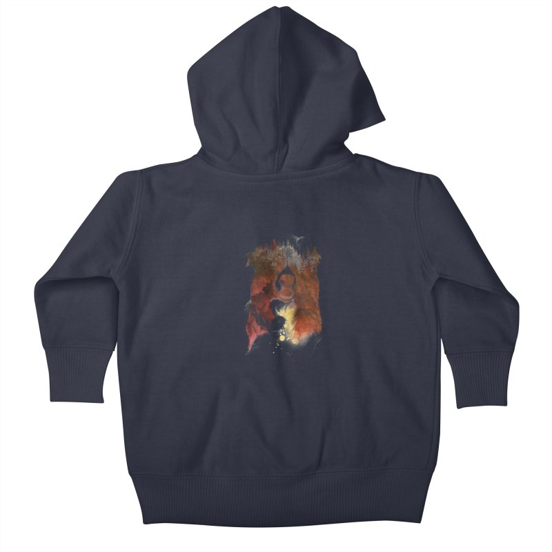 One night in the forest Kids Baby Zip-Up Hoody by Astronaut's Artist Shop