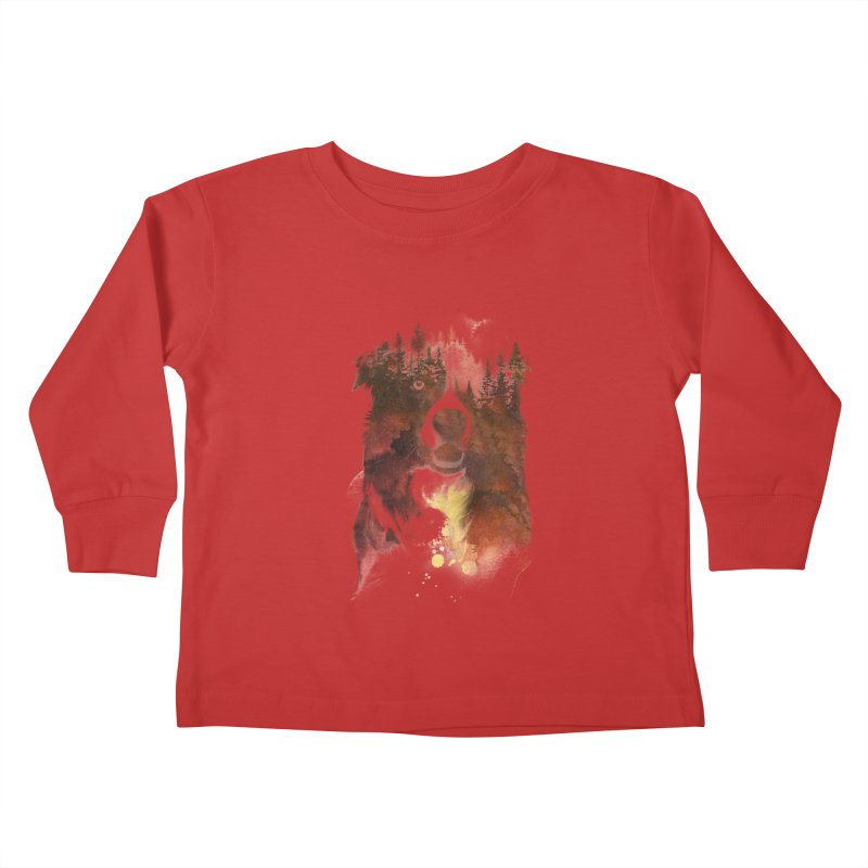 One night in the forest Kids Toddler Longsleeve T-Shirt by Astronaut's Artist Shop