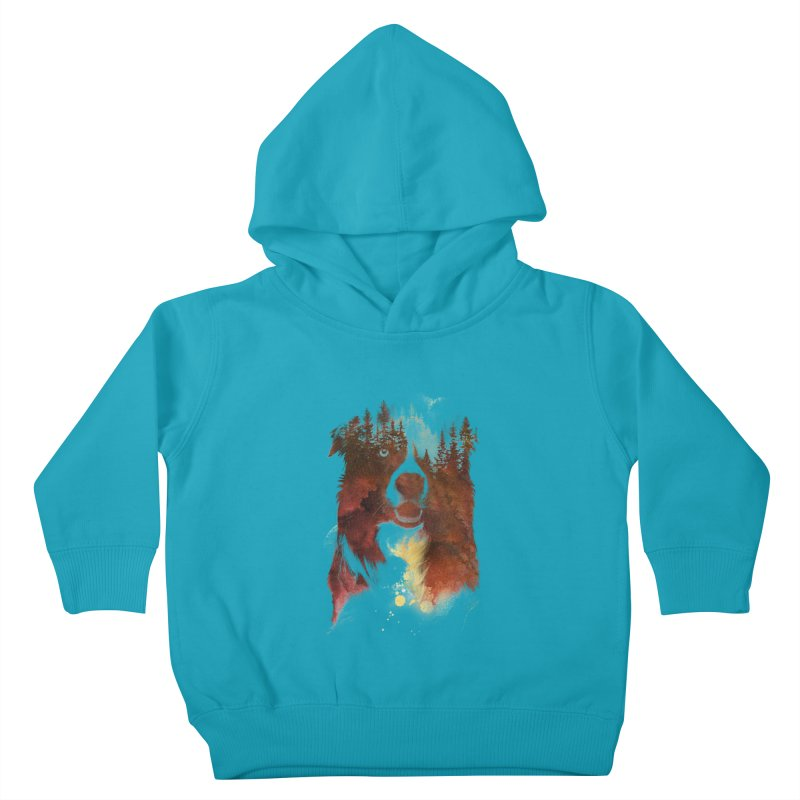 One night in the forest Kids Toddler Pullover Hoody by Astronaut's Artist Shop