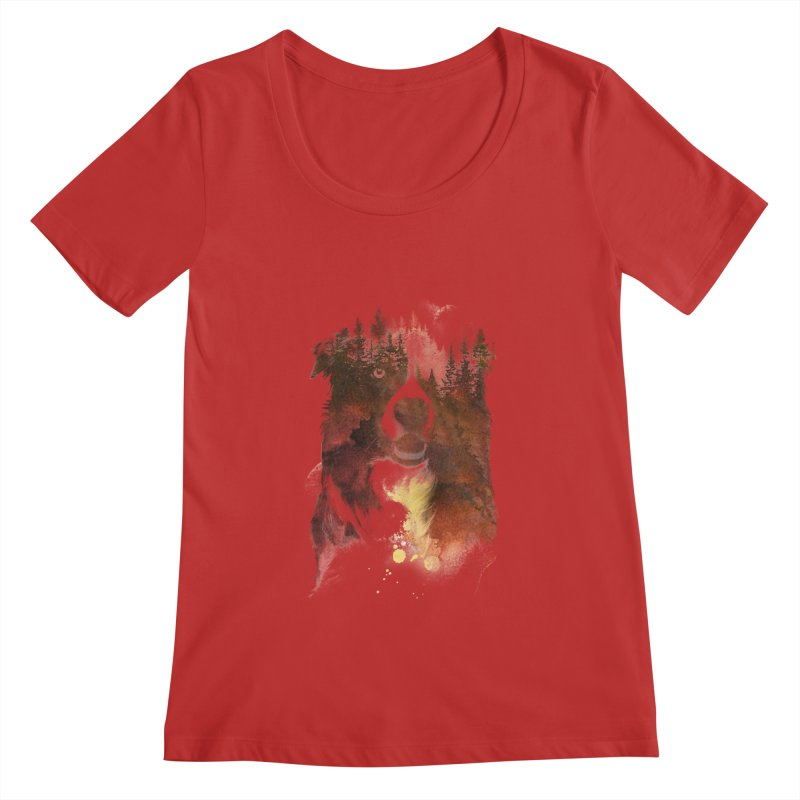 One night in the forest Women's Scoopneck by Astronaut's Artist Shop
