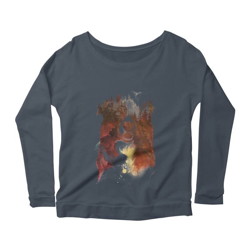 One night in the forest Women's Longsleeve Scoopneck  by Astronaut's Artist Shop