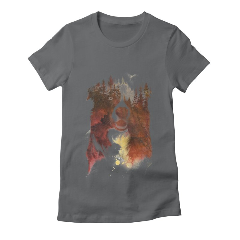 One night in the forest Women's Fitted T-Shirt by Astronaut's Artist Shop