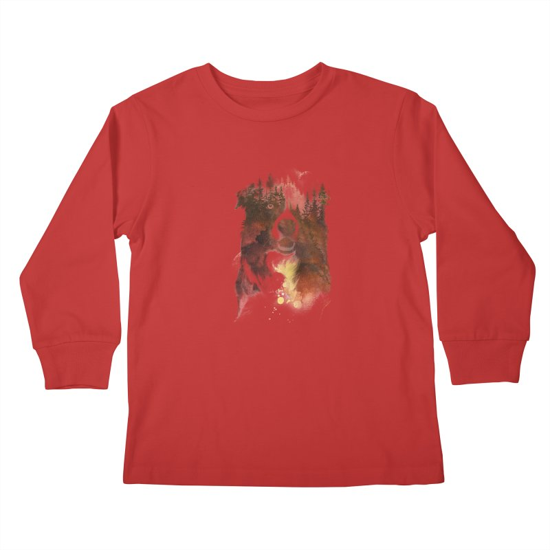 One night in the forest Kids Longsleeve T-Shirt by Astronaut's Artist Shop