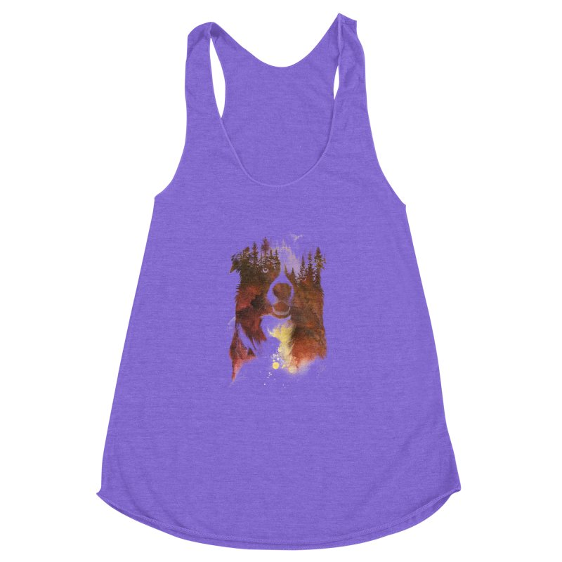 One night in the forest Women's Racerback Triblend Tank by Astronaut's Artist Shop