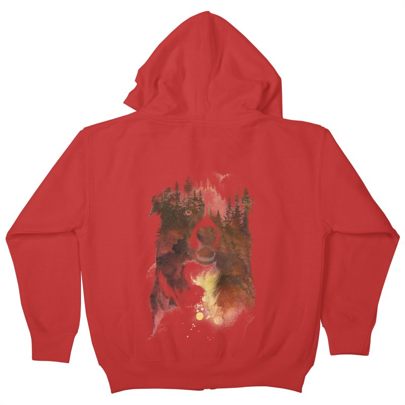 One night in the forest Kids Zip-Up Hoody by Astronaut's Artist Shop