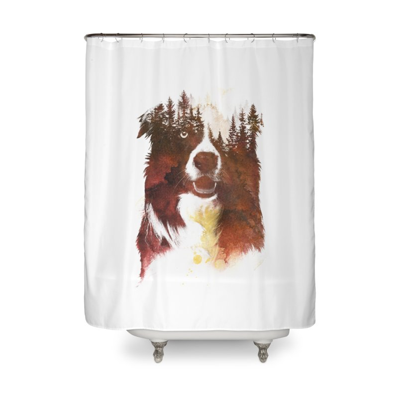 One night in the forest Home Shower Curtain by Astronaut's Artist Shop