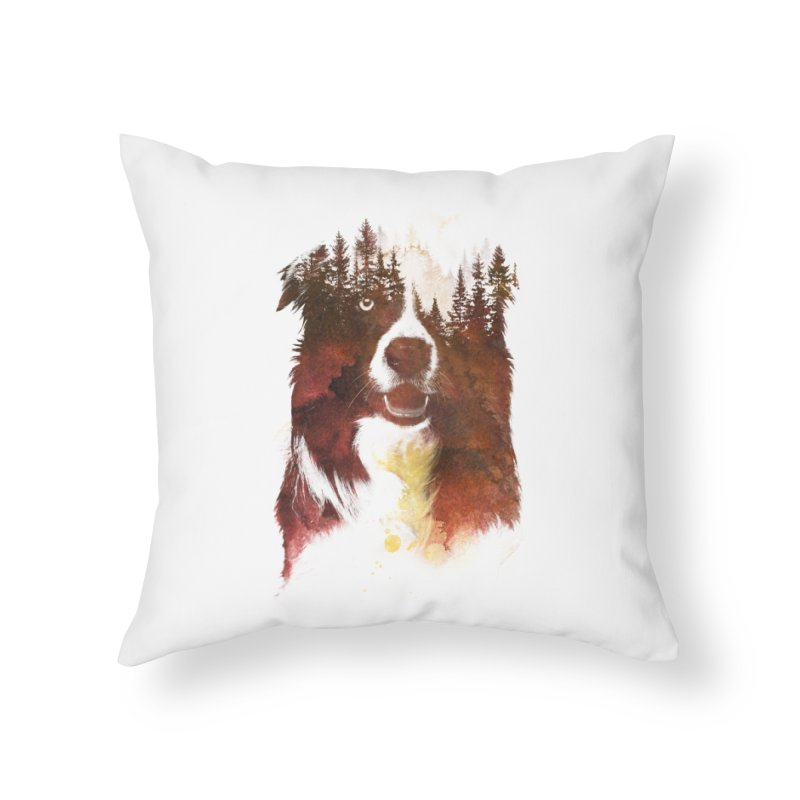 One night in the forest Home Throw Pillow by Astronaut's Artist Shop