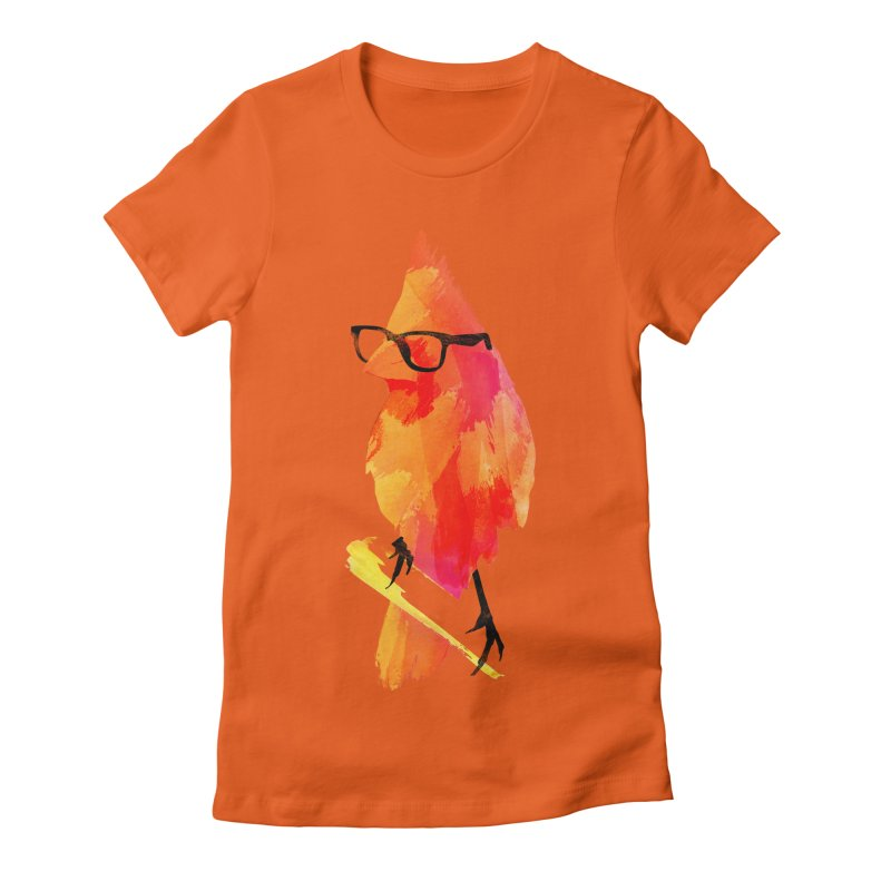 Punk birdy Women's Fitted T-Shirt by Astronaut's Artist Shop