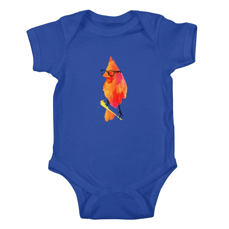 Punk birdy Kids Baby Bodysuit by Astronaut's Artist Shop