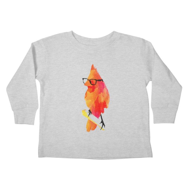 Punk birdy Kids Toddler Longsleeve T-Shirt by Astronaut's Artist Shop