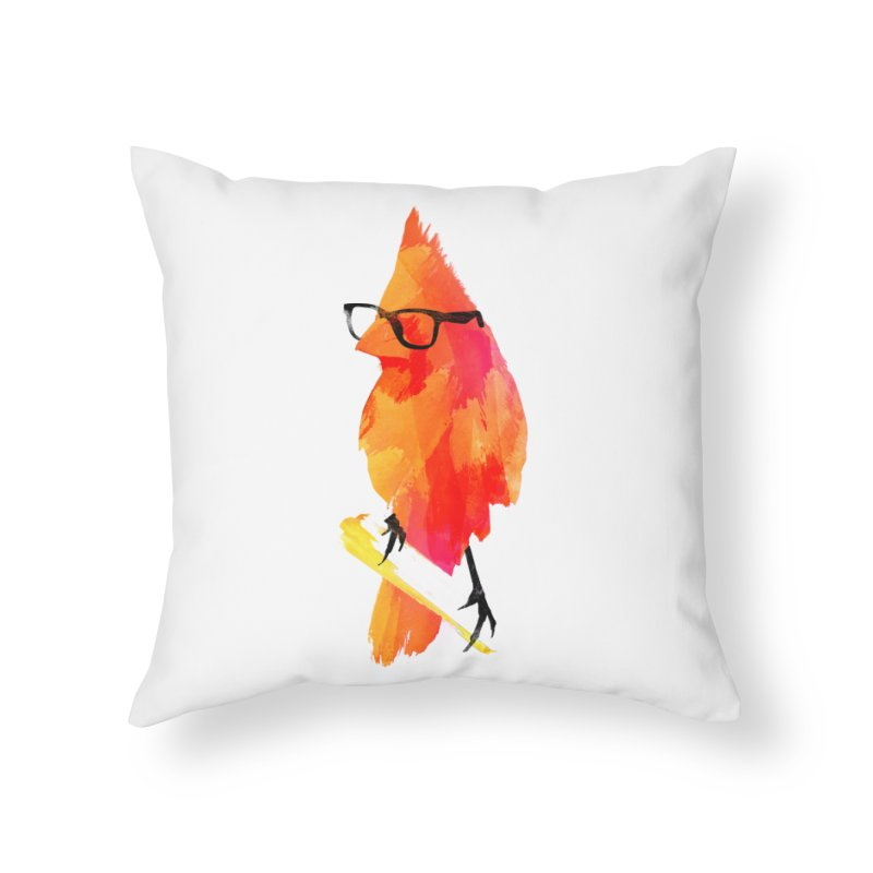 Punk birdy Home Throw Pillow by Astronaut's Artist Shop