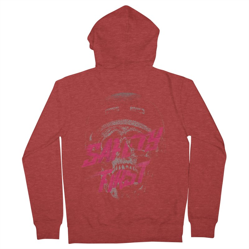 Safety first Men's Zip-Up Hoody by Astronaut's Artist Shop