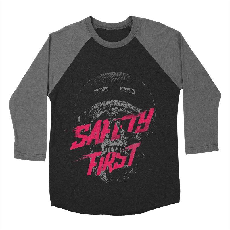 Safety first Men's Baseball Triblend T-Shirt by Astronaut's Artist Shop