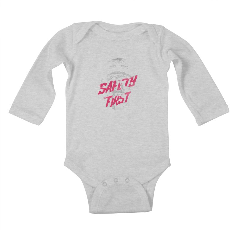 Safety first Kids Baby Longsleeve Bodysuit by Astronaut's Artist Shop
