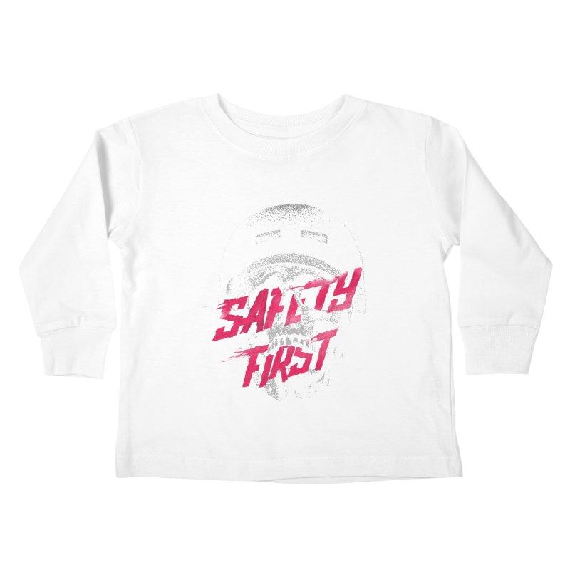 Safety first Kids Toddler Longsleeve T-Shirt by Astronaut's Artist Shop