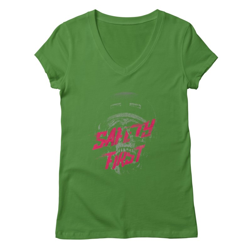 Safety first Women's V-Neck by Astronaut's Artist Shop