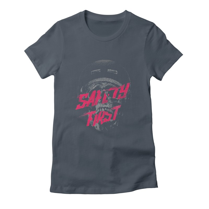 Safety first Women's Fitted T-Shirt by Astronaut's Artist Shop