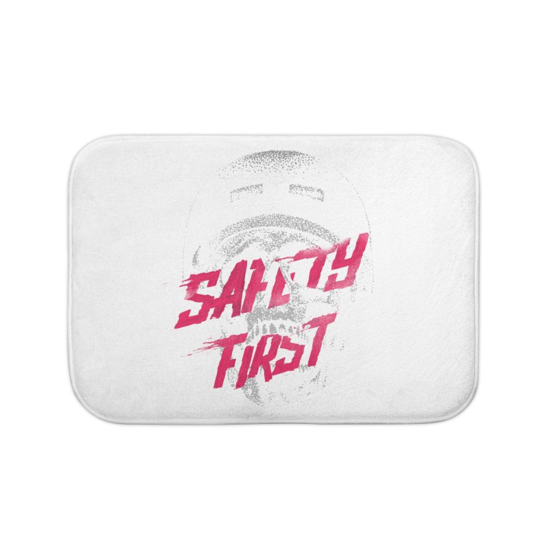 Safety first Home Bath Mat by Astronaut's Artist Shop