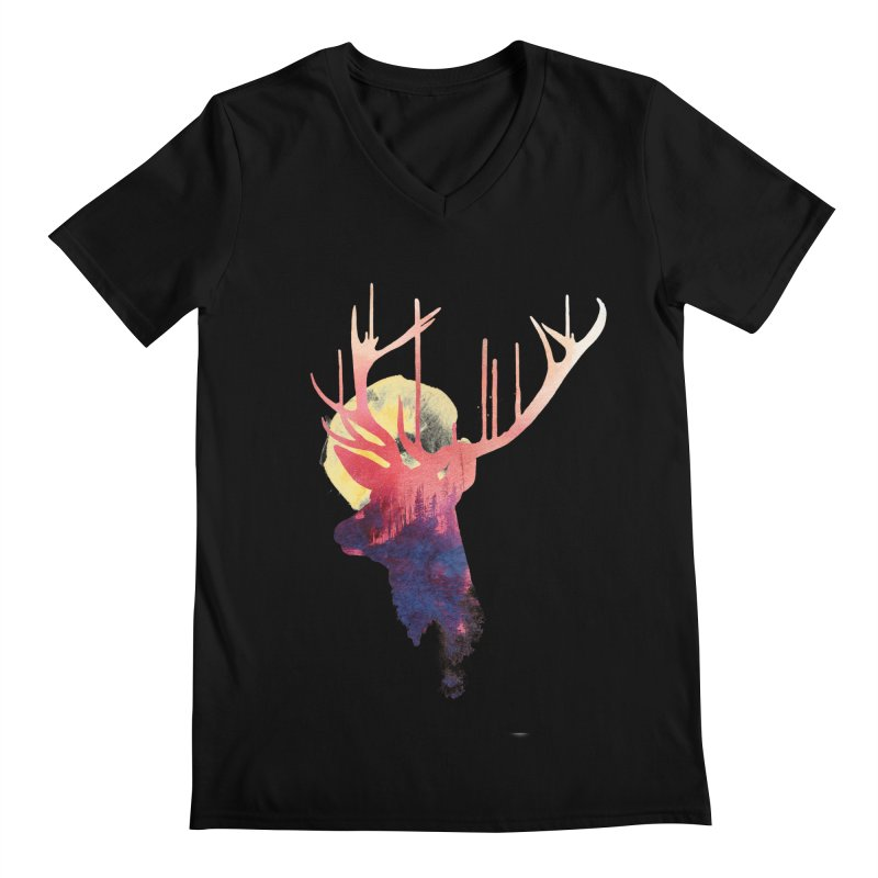 The burning sun Men's V-Neck by Astronaut's Artist Shop