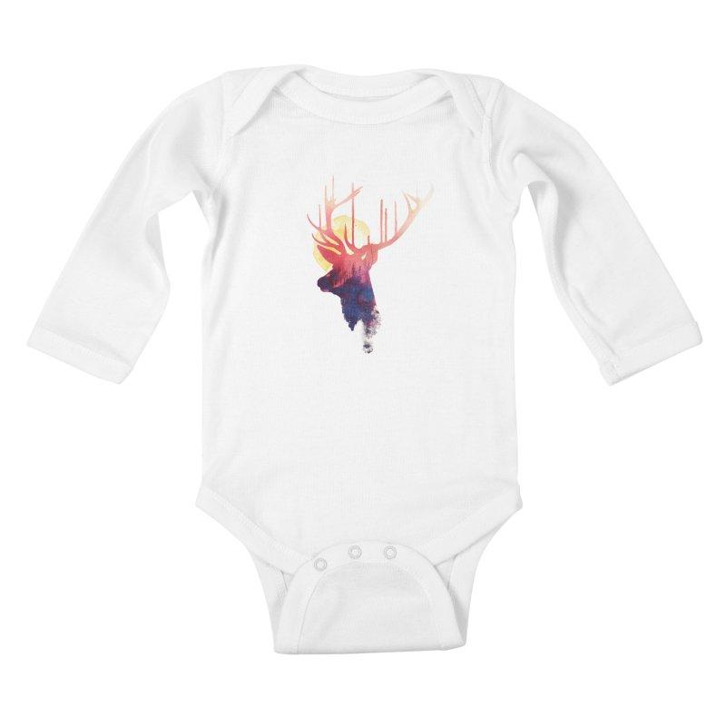 The burning sun Kids Baby Longsleeve Bodysuit by Astronaut's Artist Shop