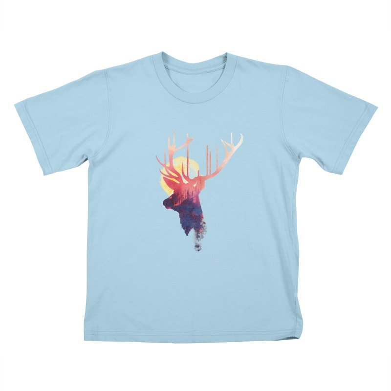 The burning sun Kids T-shirt by Astronaut's Artist Shop