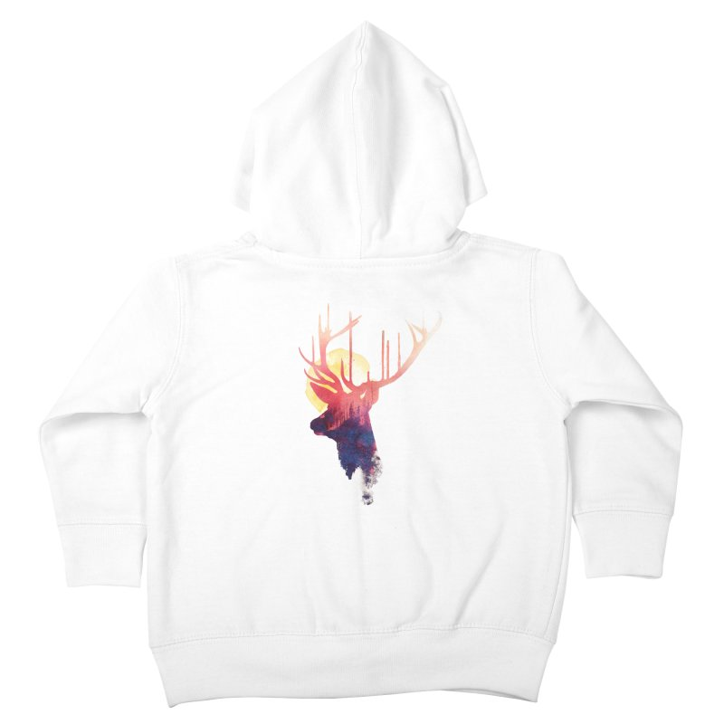 The burning sun Kids Toddler Zip-Up Hoody by Astronaut's Artist Shop