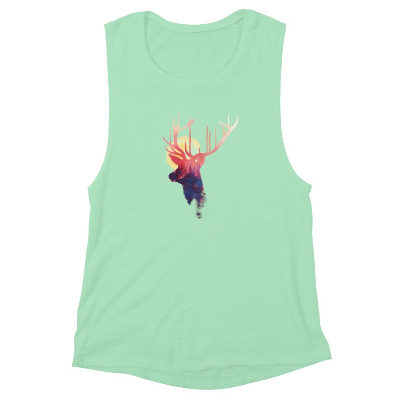 The burning sun Women's Muscle Tank by Astronaut's Artist Shop