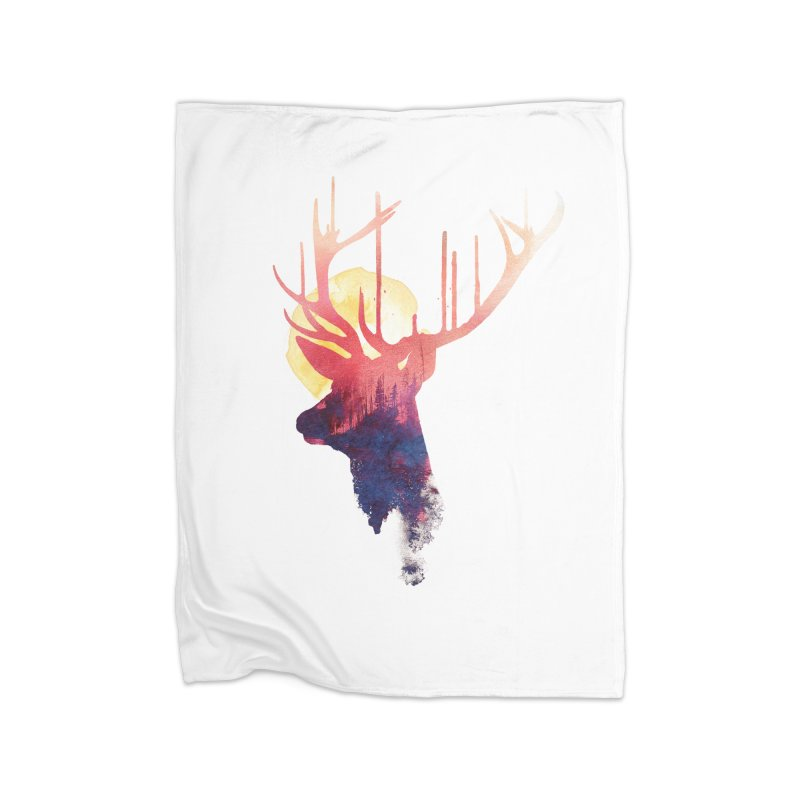 The burning sun Home Blanket by Astronaut's Artist Shop