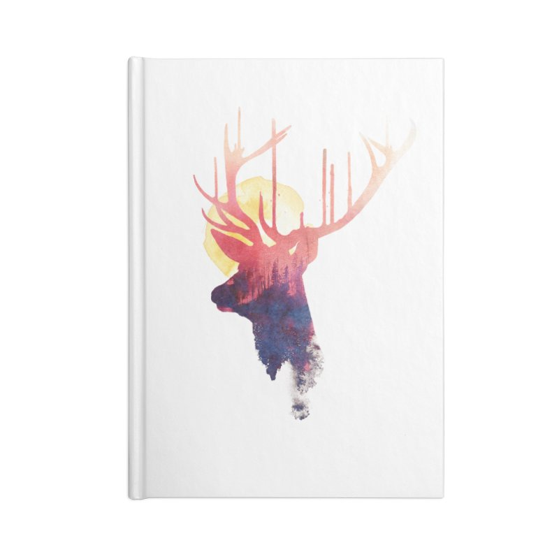 The burning sun Accessories Notebook by Astronaut's Artist Shop