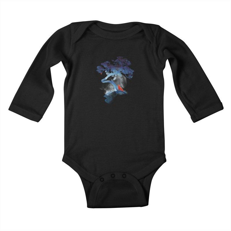 The last apple tree Kids Baby Longsleeve Bodysuit by Astronaut's Artist Shop