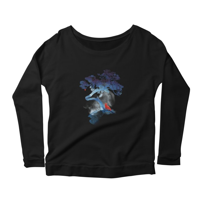 The last apple tree Women's Longsleeve Scoopneck  by Astronaut's Artist Shop