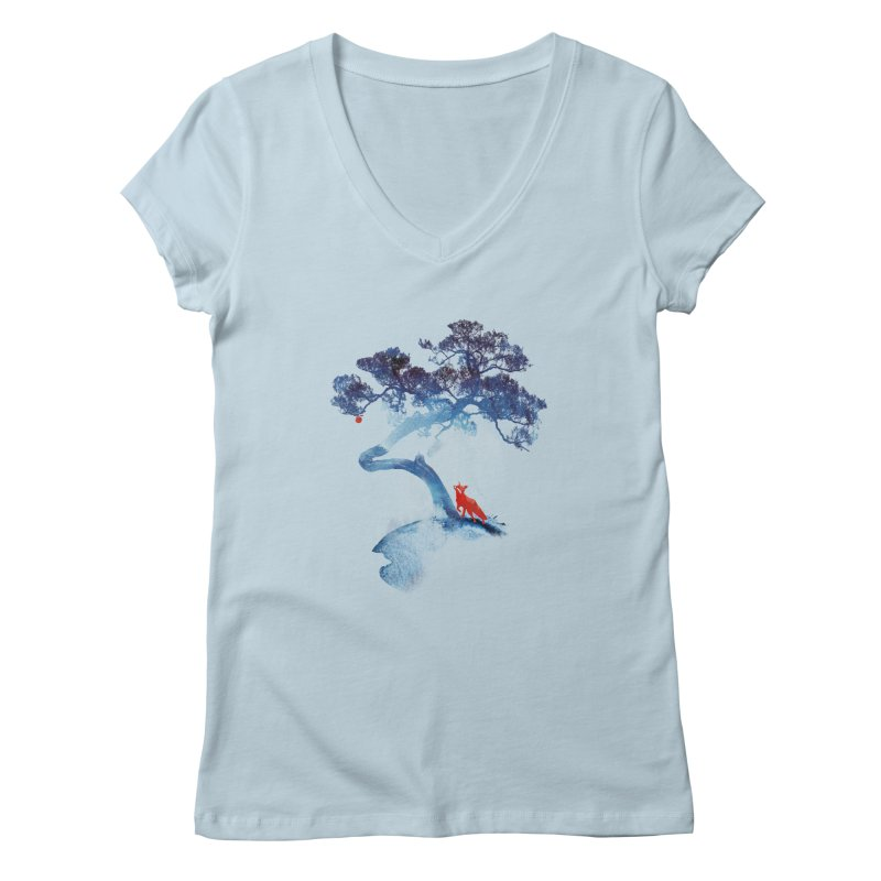 The last apple tree Women's V-Neck by Astronaut's Artist Shop