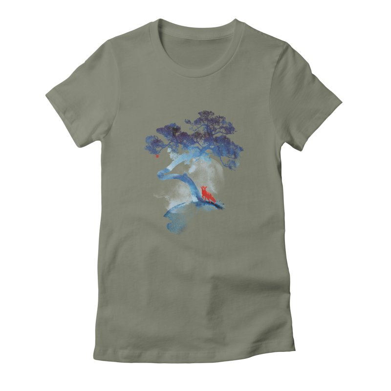 The last apple tree Women's Fitted T-Shirt by Astronaut's Artist Shop