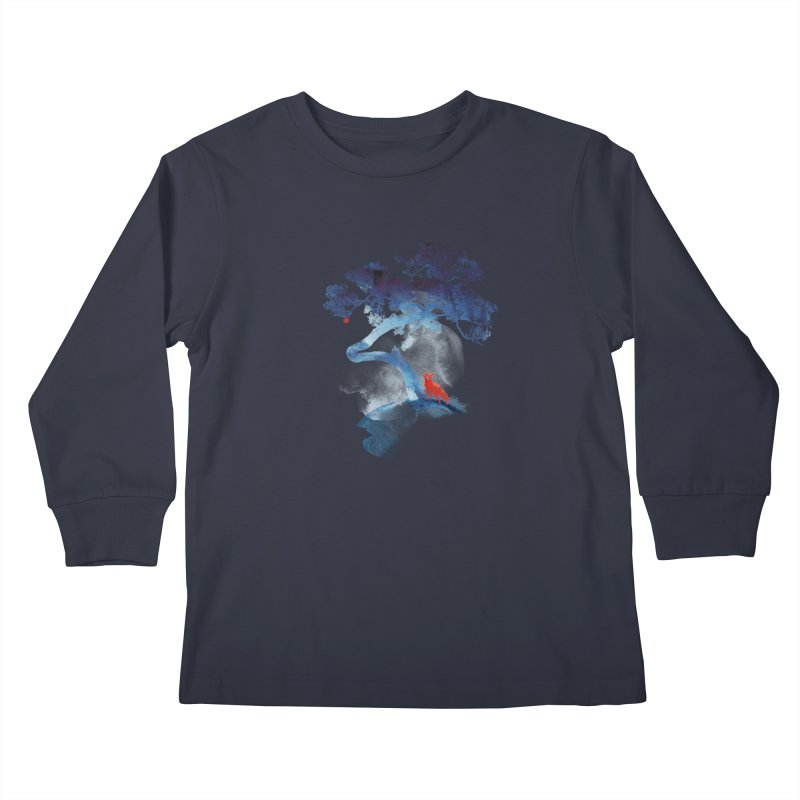 The last apple tree Kids Longsleeve T-Shirt by Astronaut's Artist Shop