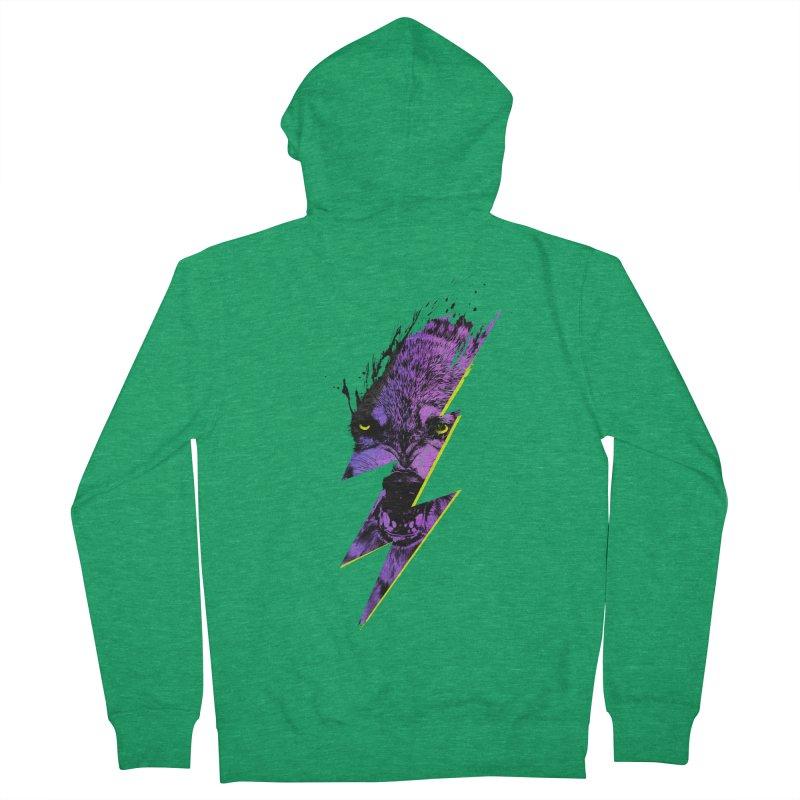Thunderwolf Men's Zip-Up Hoody by Astronaut's Artist Shop