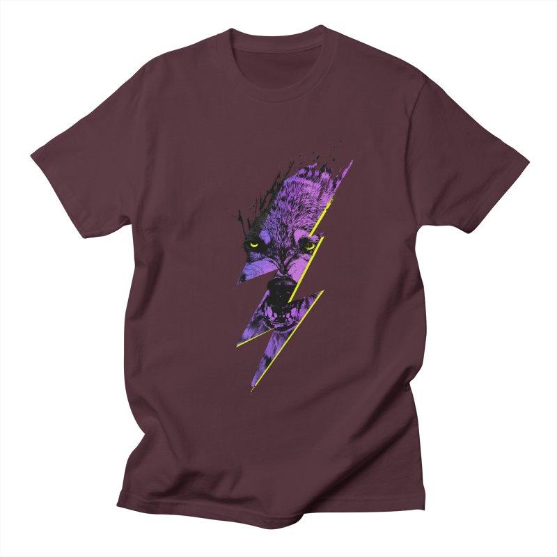 Thunderwolf Men's T-shirt by Astronaut's Artist Shop