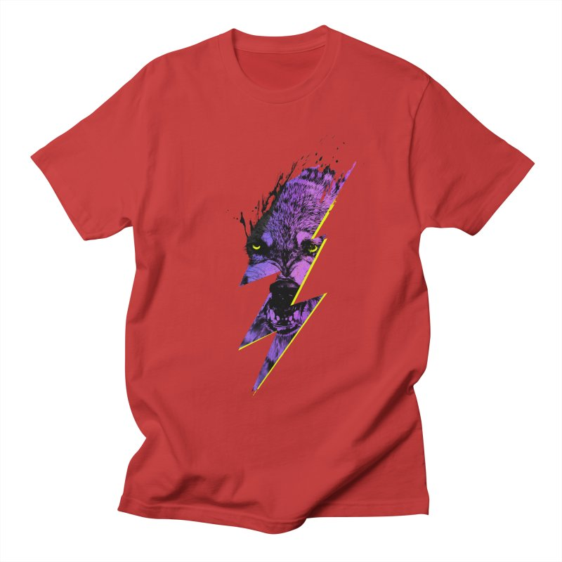Thunderwolf Men's T-shirt by Astronaut's Artist Shop