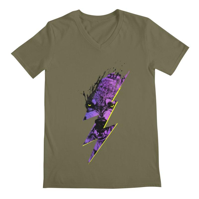 Thunderwolf Men's V-Neck by Astronaut's Artist Shop