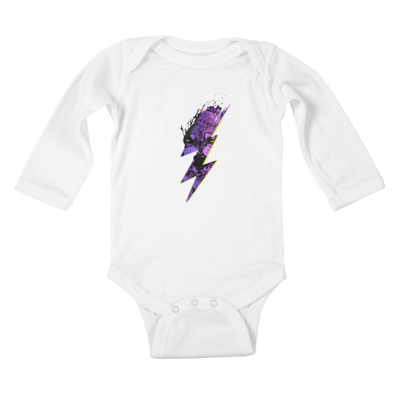 Thunderwolf Kids Baby Longsleeve Bodysuit by Astronaut's Artist Shop
