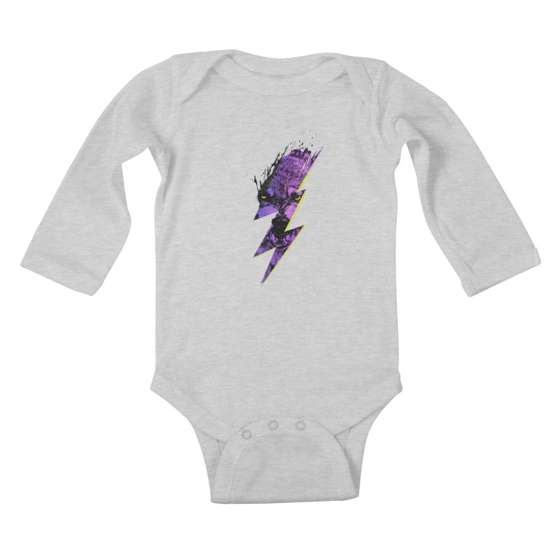 Thunderwolf Kids Baby Longsleeve Bodysuit by Astronaut's Artist Shop