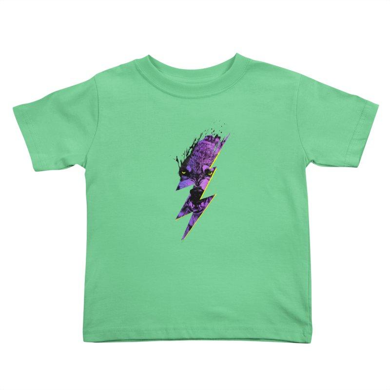 Thunderwolf Kids Toddler T-Shirt by Astronaut's Artist Shop